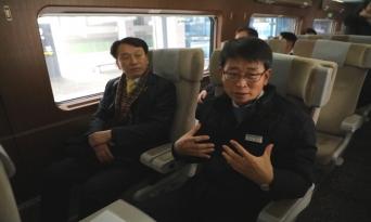 한국관광공사 임직원 KTX 경강선 시승...22일 KTX 경강선 정식 개통에 앞서