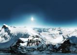 스위스 체르마트의 무공해 청청 일출과 일몰(3)