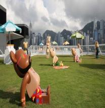 [홍콩] 하버시티 오션 터미널 데크--->해변으로 완전 탈바꿈