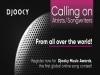 'Djooky Music Awards' ...전 세계 모든 예술가와 작곡가, 2월 20일까지 등록마감
